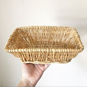 Vintage Wicker Rectangle Basket Wall Decor